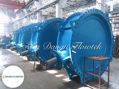 DN2400 double eccentric butterfly valve