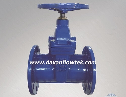 PN25 resilient seat gate valve flange type