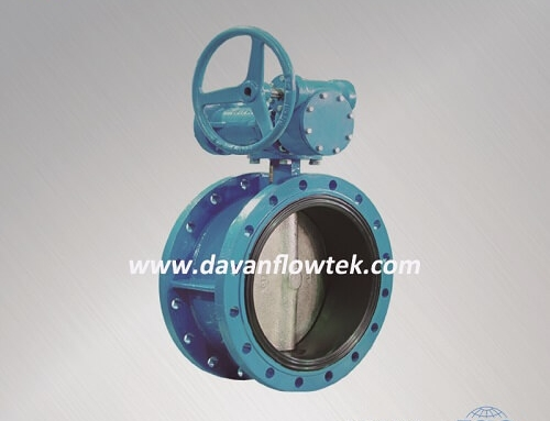centric type butterfly valve flange connection