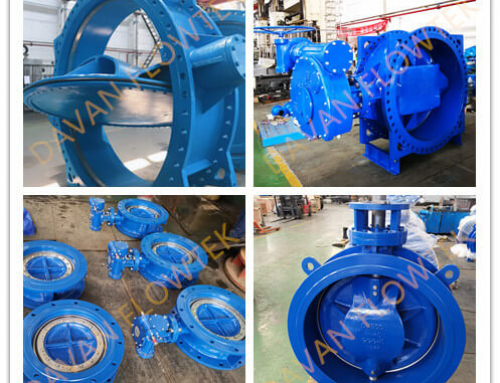 What is the advantage between the centric type and double eccentric type butterfly valve in big size?