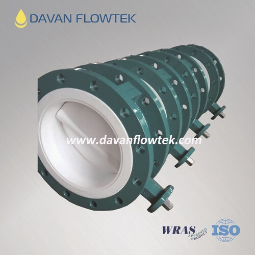 flange type ptfe seat butterfly valve