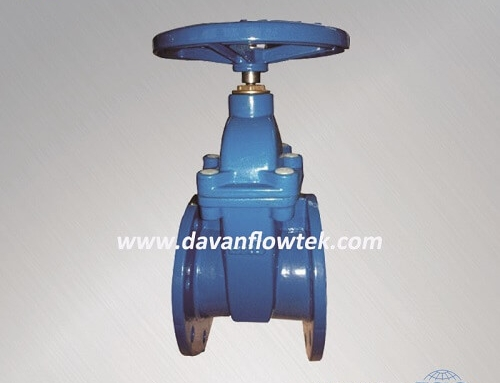 resilient seat gate valve DIN3352 F4 rubber wedge