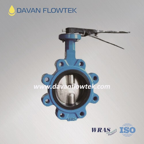 lug type butterfly valve with hand lever