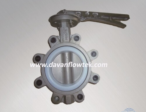 ptfe seated cf8m disc lug type butterfly valve