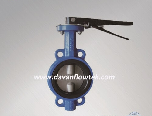 two shaft wafer type butterfly valve