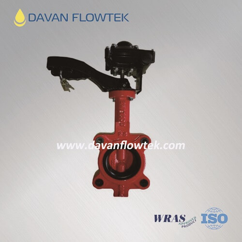 wafer butterfly valve with switch signal