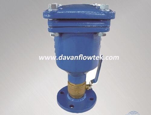 DN50 single orifice air release valve with isolation valve