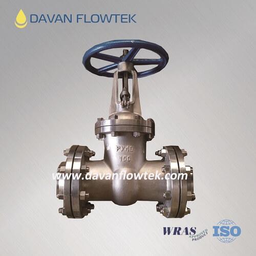 PN40 gost gate valve wcb flange type