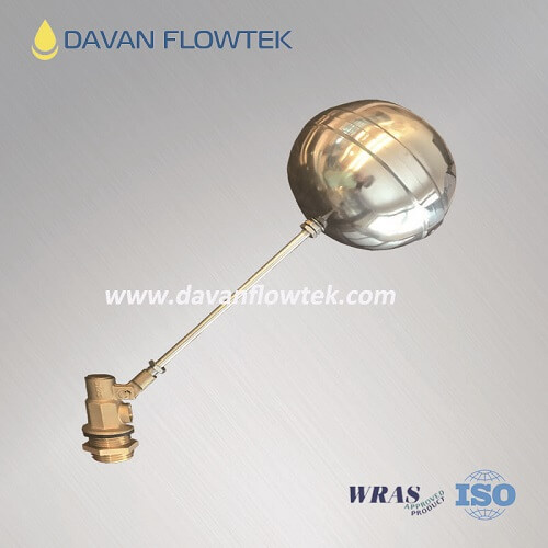 brass float ball valve NPT threaded connection for water tank