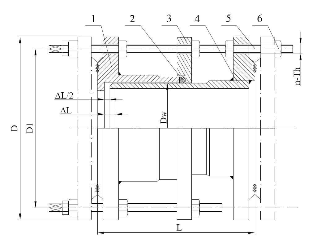 carbon steel dismantling joint dimension