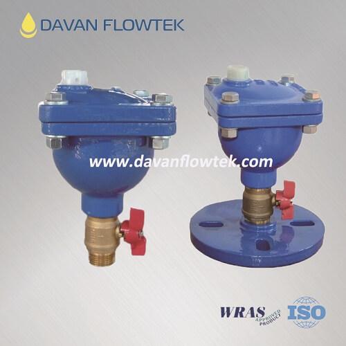 dn25 single air valve with brass ball valve