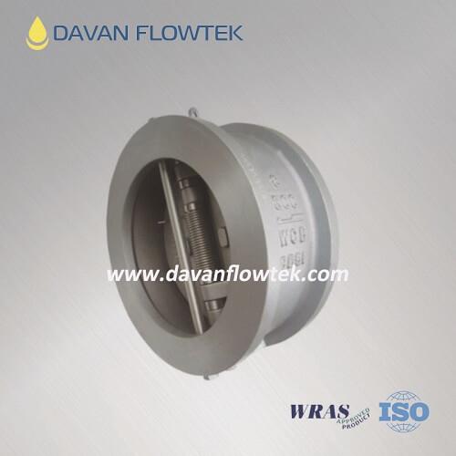 double disc check valve wcb body