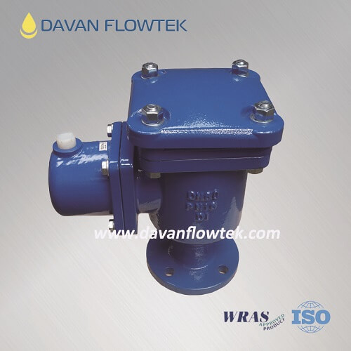double orifice air valve with three function use