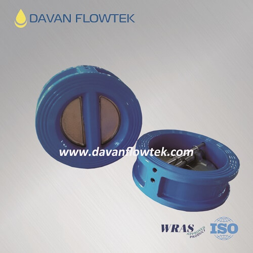 dual plate check valve ductile iron body
