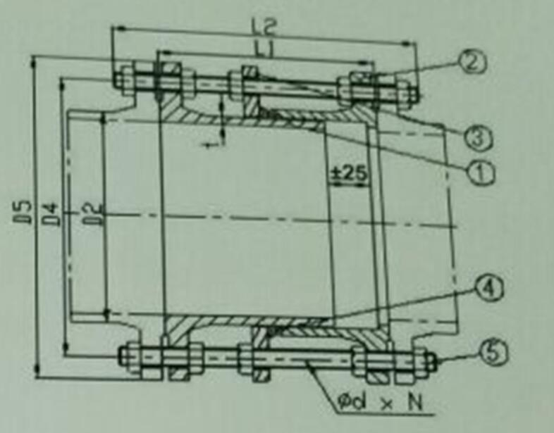 ductile iron dismantling joint dimension