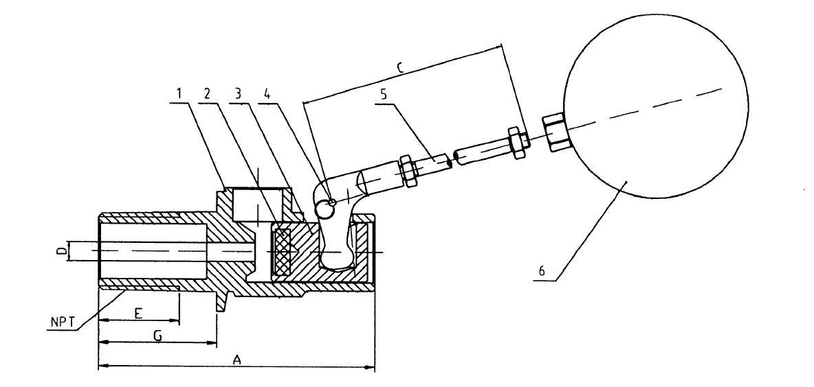 float ball valve size