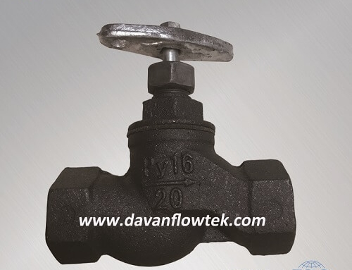 gost screw globe valve cast iron PN16
