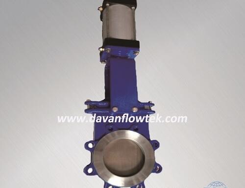 lug knife gate valve ductile iron body