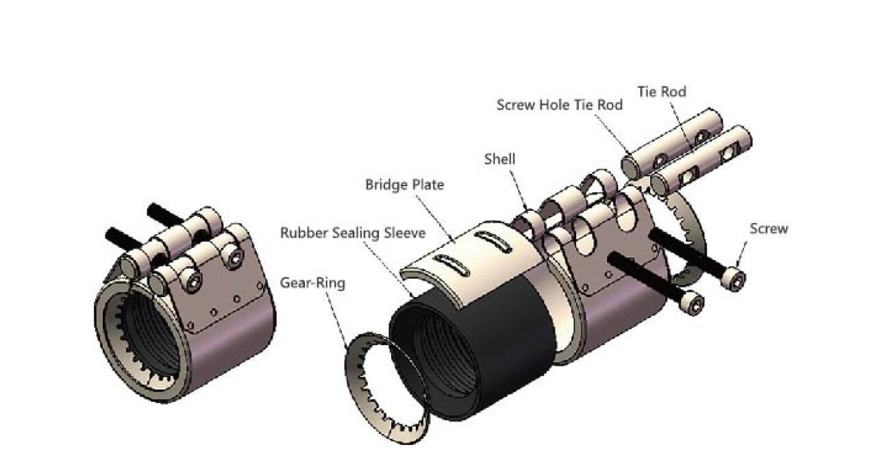 multi function repair coupling size