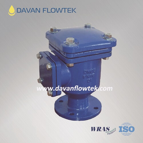 single air release valve with side flange