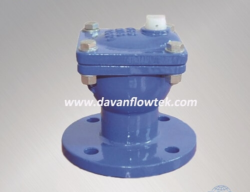 single air valve with integral flange