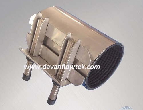 single bend repair clamp stainless steel PN16