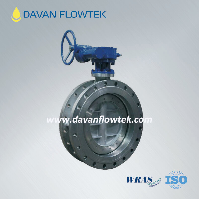 triple eccentric butterfly valve metal seal flange type