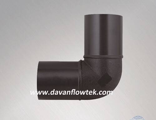 HDPE 90 degree elbow for pipe connection