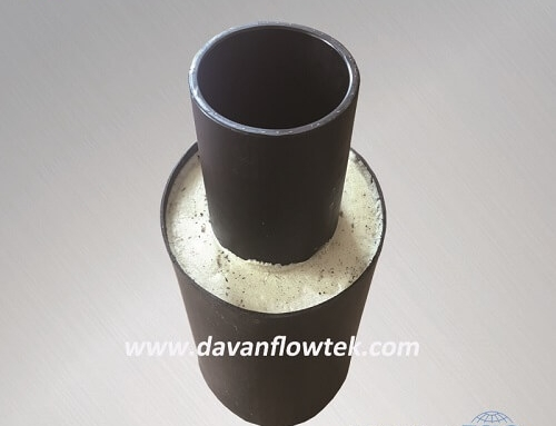 PE reinforced pipe with jacket for low temperature using