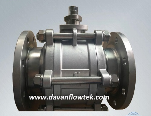 3pc ball valve CF8 with flange connection