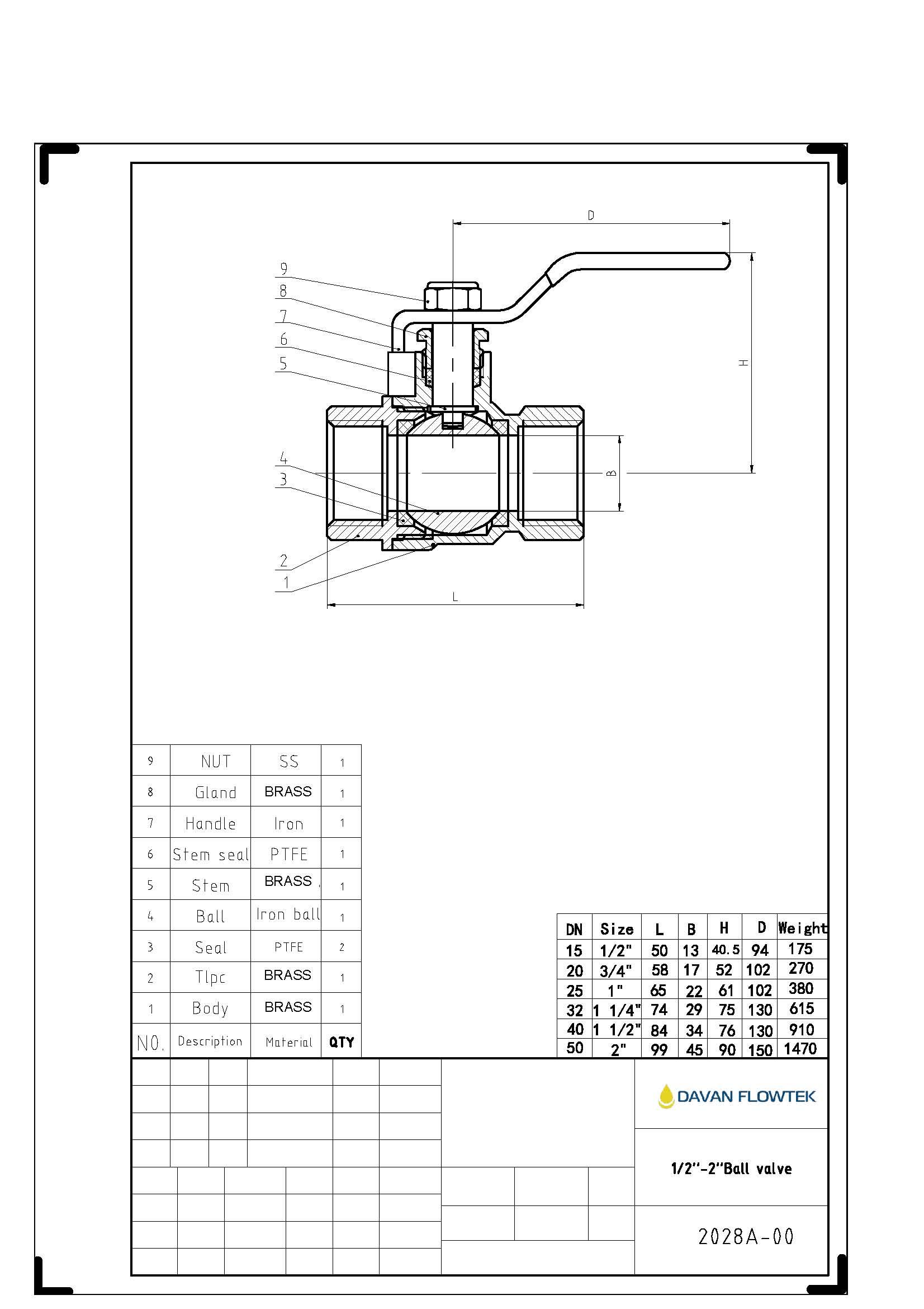 ball valve drawing