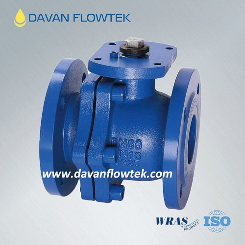cast iron ball valve with flange connection