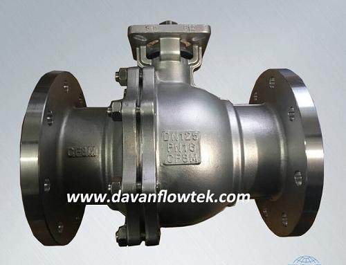 cf8m ball valve 2pc high platform
