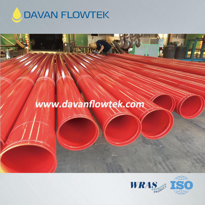 fbe coating steel pipe with 3PE coated finishing