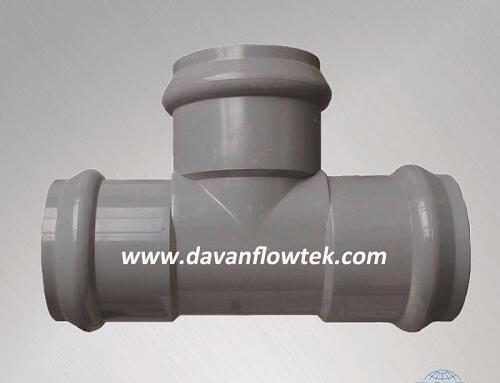 upvc tee socket for upvc pipeline