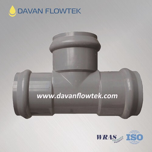 upvc tee socket for upvc pipeline
