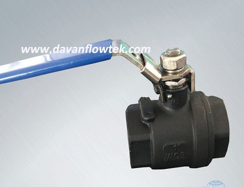 wcb ball valve with handle operator