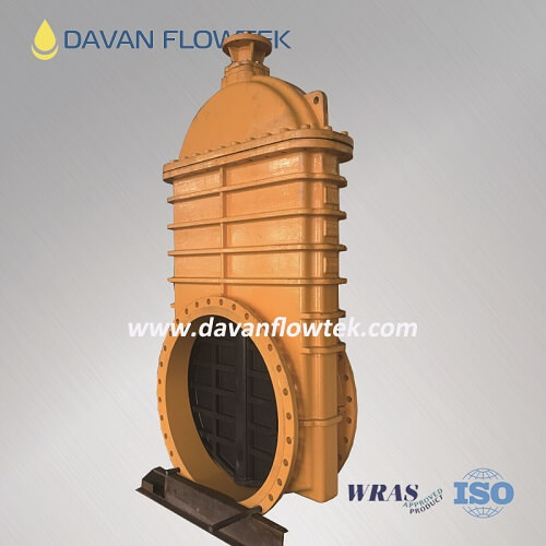 DN1200 gate valve resilient seat DI body