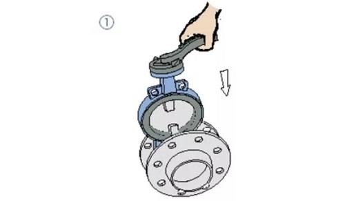 wafer butterly valve assembling 1