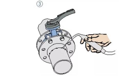 wafer butterfly valve assembling step 3