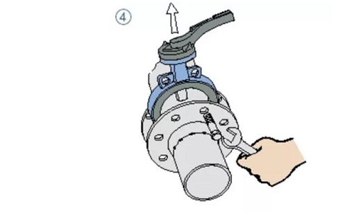 wafer butterfly valve assembling step 4
