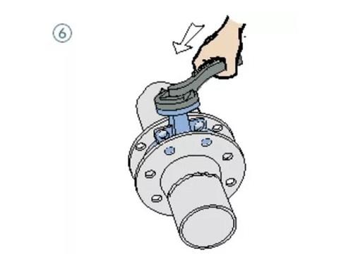 wafer butterfly valve assembling step 6