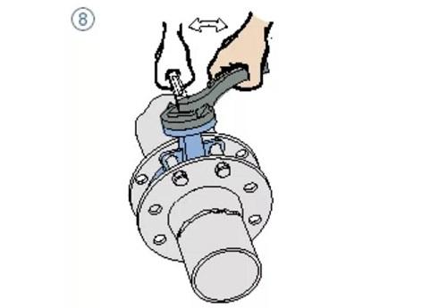 wafer butterfly valve assembling step 8