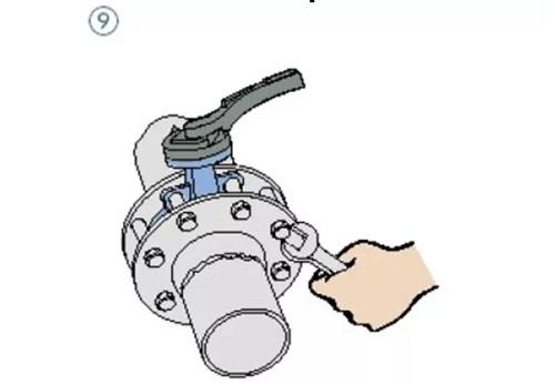 wafer butterfly valve assembling step 9