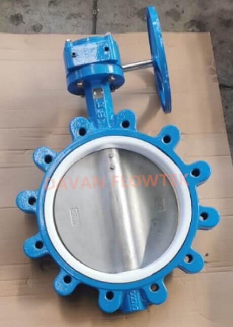 lug type butterfly valve ptfe seat