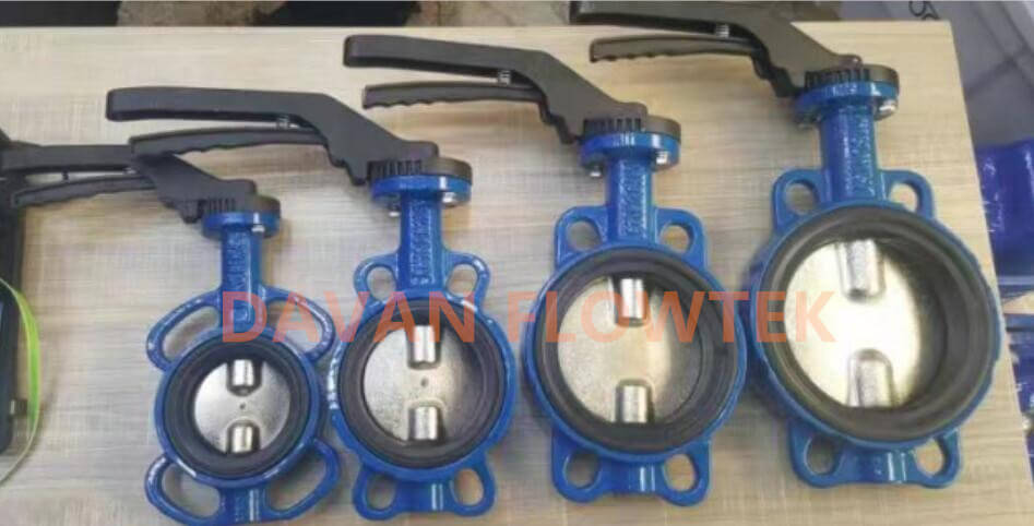 wafer type butterfly valve with soft seat