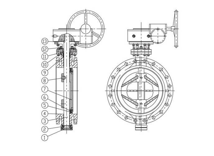 flange triple ecentric type