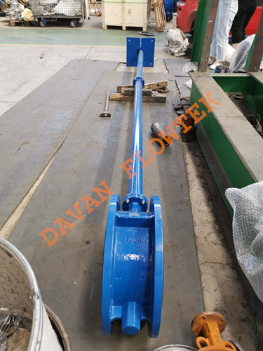 butterfly valve with extension bar 1