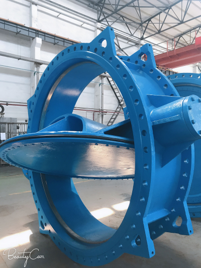 big size double eccentric butterfly valve