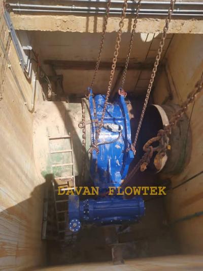 butterfly valve in the pipeline davan flowtek